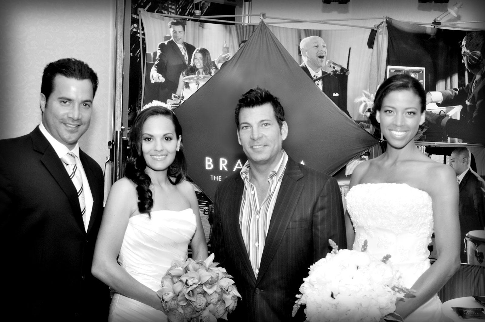 David Tutera With Mc Tony And 2 Model Brides